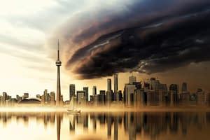 gratte-ciel de Toronto et un nuage sombre